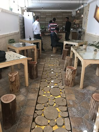 Nushabad, Iran: Inside Café Anousheh