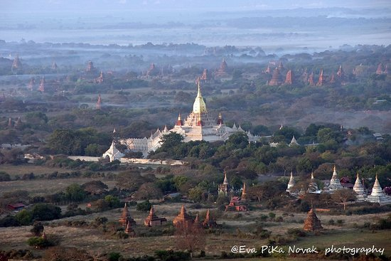 Yangon Region, Burma: Flying with Oriental Ballooning /MyanMarvels organisation /Ananda temple