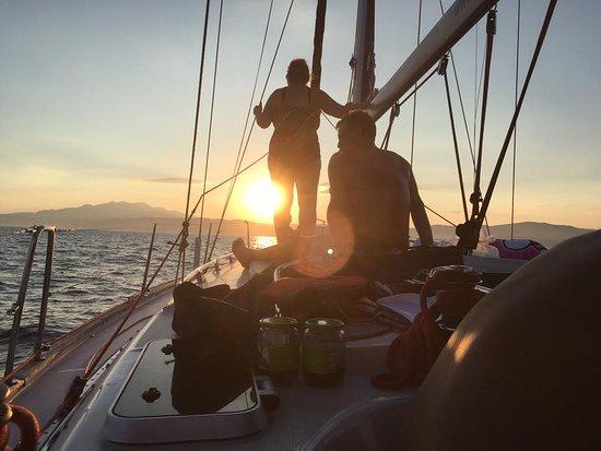 Discovery Aegean Sea Cruises: Πανέμορφο ηλιοβασίλεμα