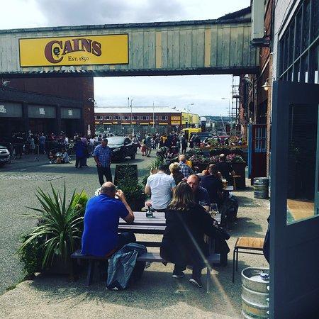 Dockleaf bar. Cains Brewery Village.  Great beer, cocktails & food.  Live music/sport