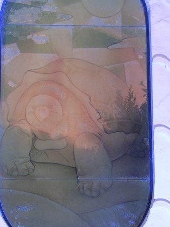 Puerto Villamil, Ecuador: Tortoise stained glass