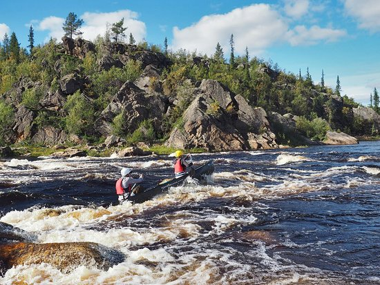 Muonionalusta, Swedia: One of all the rapids along Arctic Canoe Route