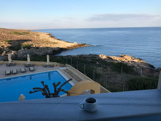 Giorgi's Blue Apartments: Beautiful early morning view from my balcony