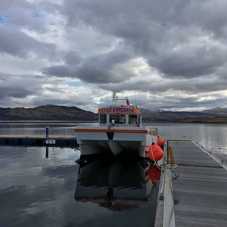 View of Loch Etive from stern of boat - Picture of Etive