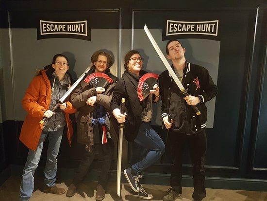Escape Hunt Bristol: victory stances