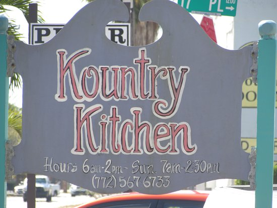 Kountry Kitchen: sign