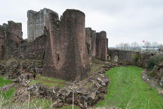 Goodrich, UK: Across the moat