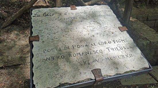 Verghereto, Italia: Stele per il Tevere