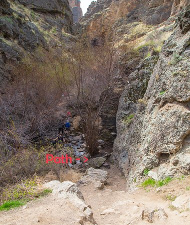 Marsing, ID: The lower path to the waterfall.