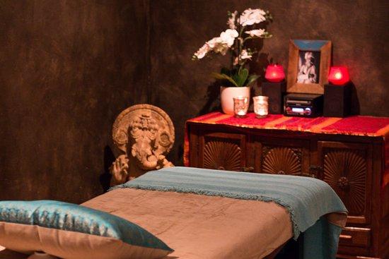 Gerpinnes, Bélgica: Cabine de soins et de massage