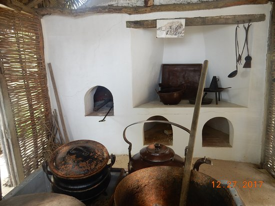 inside one of the outer buildings at Pedro St. James