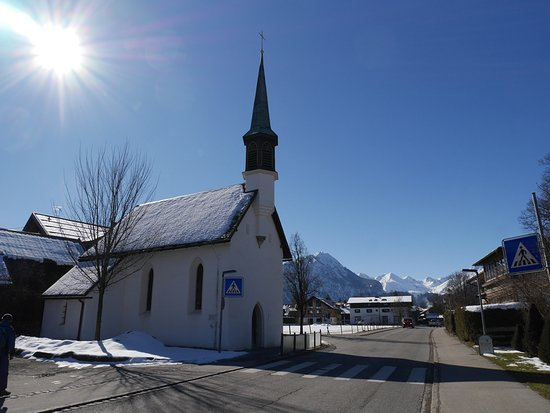 Oberstdorf, Germany: In the old times the chapel marked the entrance to the town.