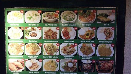 Menu Picture Of Bar Asia Anh Viet Thai Food Warsaw Tripadvisor
