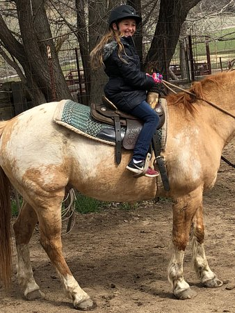 Caliente, CA: Her first ride - on a perfect horse!
