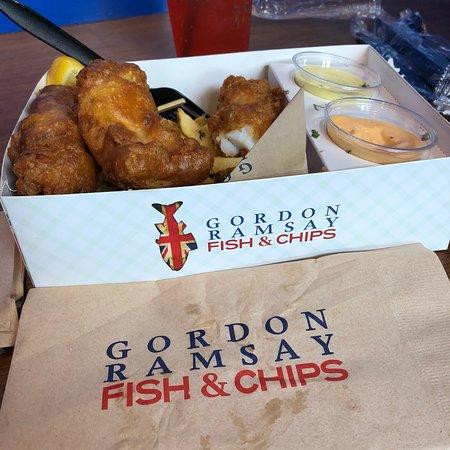 Gordon ramsay fish and chips las vegas restoran for Gordon ramsay las vegas fish and chips