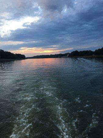 Beautiful sunsets on board M/V Bay Breeze of Chesapeake City