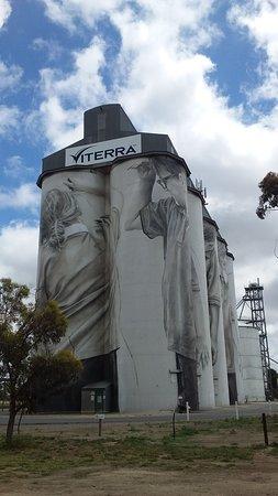 Coonalpyn, أستراليا: Coonalpyn Grain Silos Artwork