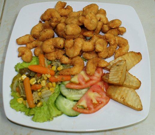 Santa Cruz del Norte, Cuba: Camarones Empanados