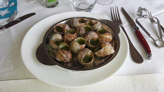 Les Collons, Ελβετία: Entrée : Escargots de Bourgogne au Chablis