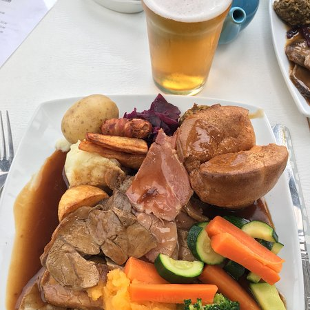 Sunday lunch at the Fishing Boat Inn, Boulmer - I thought I'd died & gone to heaven! Delicious f