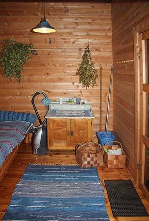 Mantta-Vilppula, ฟินแลนด์: Rantasaunamökin saunaosan pukutila