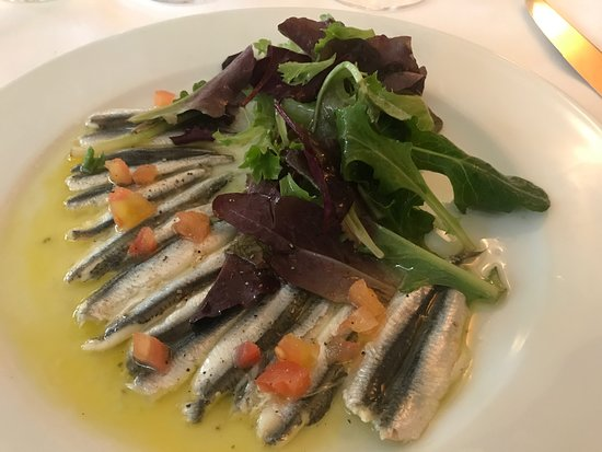 Marius: grilled anchovies