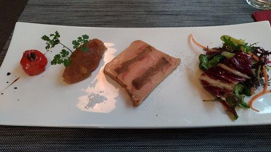 Ciboule et Ciboulette : marbré de foie gras au pain d'épices