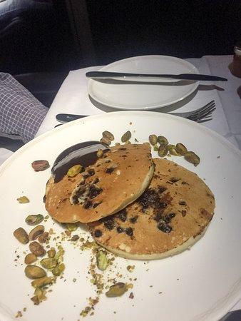 British Airways: chocolate pancakes
