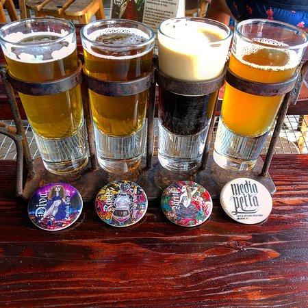 4 beer taster picture of media perra craft beer san for Craft beer san antonio