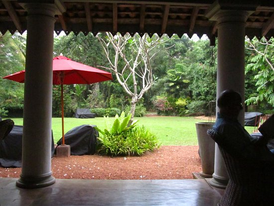 The Wallawwa: the view from the terrace.