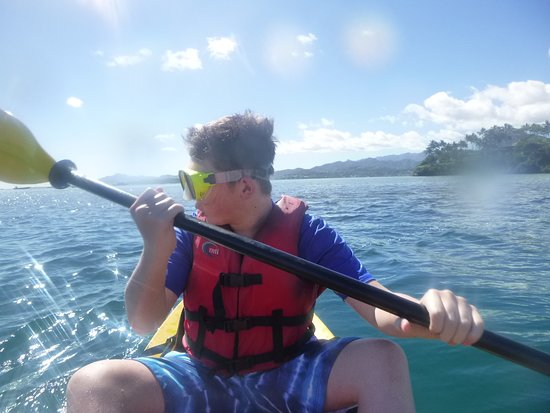 Kaneohe, HI: My son needed his corrective-lens snorkel mask to see.