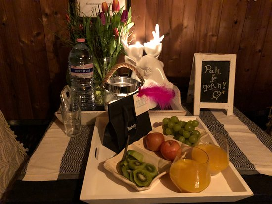 Grobbendonk, Bélgica: fruit bij ontvangst