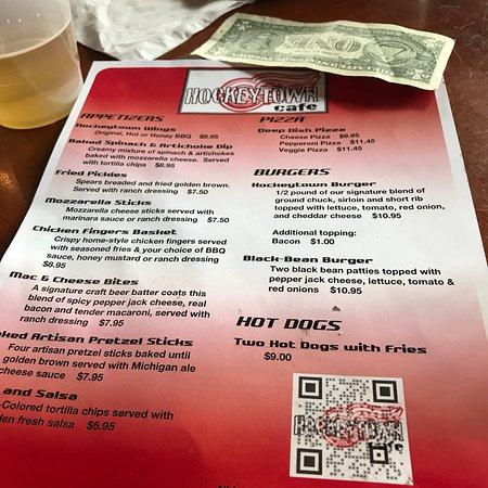 Hockeytown Cafe Menu Detroit