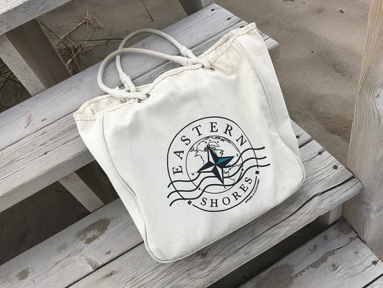 Eastern Shores Apparel & Accessories: Organic Cotton Tote Bag - We love bringing ours to the beach!  Visit eaternshoresapparel.com