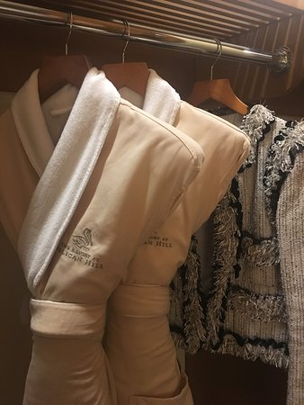 Comfy Pelican robes & slippers in closet
