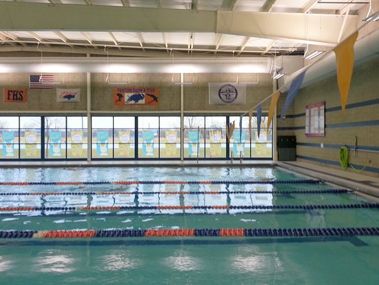Bensenville, IL: lap pool at Water's Edge Aquatic Center