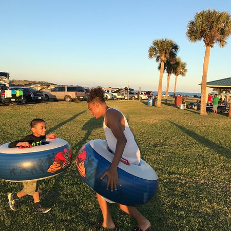 Jetty Park Campground: Family Fun, Jetty Park has a camp ground and RV Park, a park with pavilion and bbq grills, fishi
