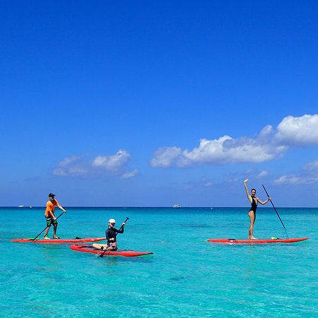 Caribbean Club Luxury Boutique Hotel: Paddle boarding and Paddle board yoga are offered at the hotel beach