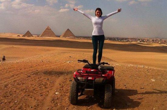 Safari no deserto de moto quadriciclo...