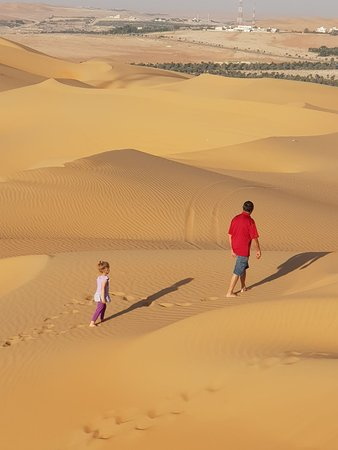 Liwa Oasis, Uni Emirat Arab: Footprints ìn the desrt
