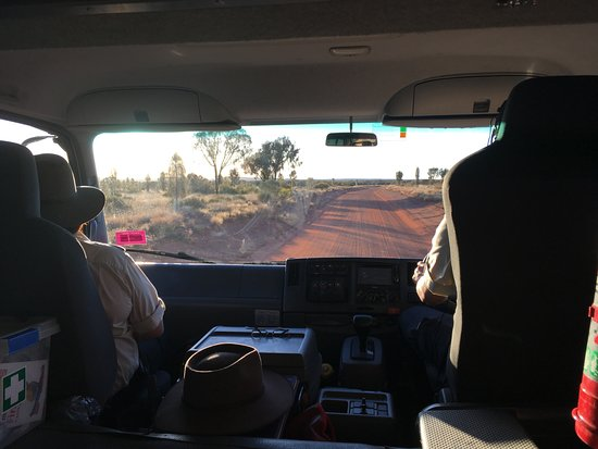 Voyages Ayers Rock Resort: On our way to the remove Tali Wiru dinner location