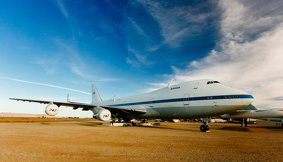 Palmdale, CA: NASA Space Shuttle Carrier, modified Boeing 747