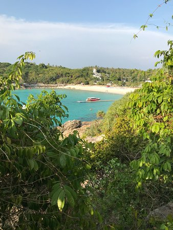The Racha Beach, taken from the hill