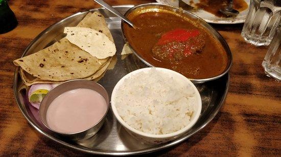 Jai Hind Fine Dining: Crab Masala Thali with Sol Kadi