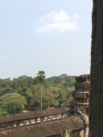 View from upper level in the temple