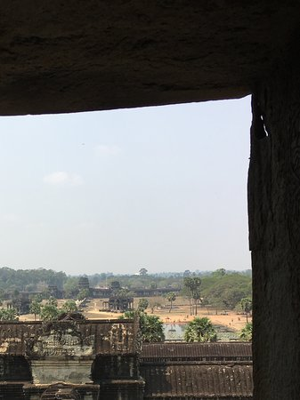 View from upper level of the temple looking towards the entrance