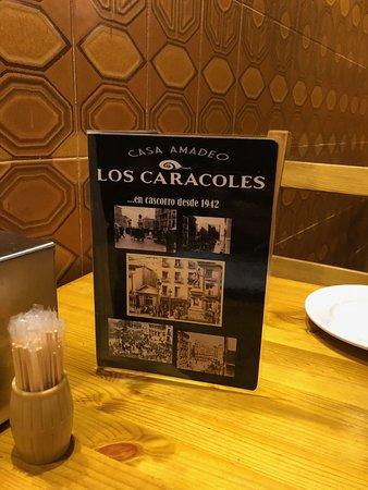 Restaurante Casa Amadeo los Caracoles: Carta