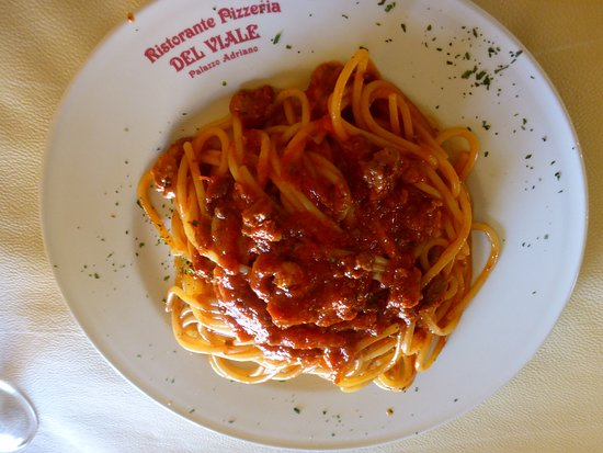Palazzo Adriano, Italy: Fresh pasta with delicious tomato sauce and chunks of meat