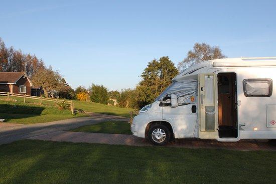 Starcross, UK: Motorhome on hardstanding electric pitch