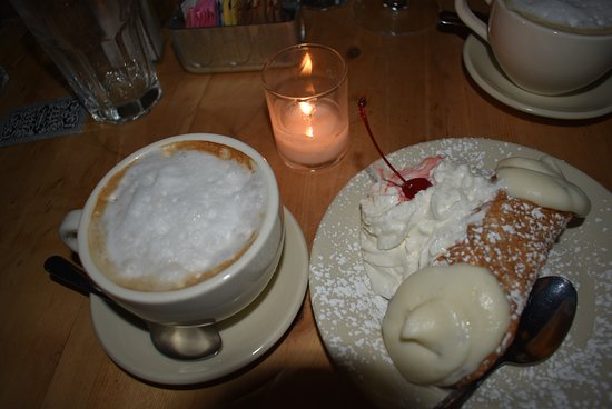 Armonk, NY: Cappuccino and a cannoli!